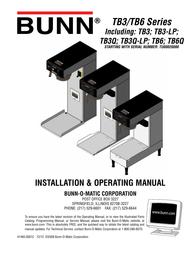 Bunn TB3 LP** User Manual