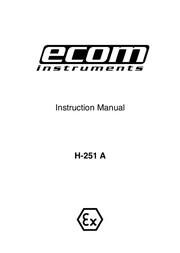 Ecom Instruments H-251 A User Manual