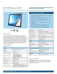 AIS OF19T100-A1-PCT Leaflet