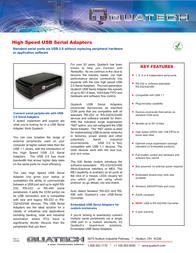 Quatech QSU2-540IS Leaflet