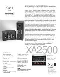 Snell Acoustics XA 2500 Leaflet