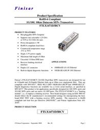Finisar FTLX1471D3BCV User Manual