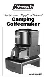 Coleman Model 5008-700 User Manual