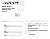 Dakota Alert Inc. Radio M538-BS User Manual