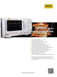 Rigol MSO1074Z-S 4-channel oscilloscope, Digital Storage oscilloscope, MSO1074Z-S Data Sheet