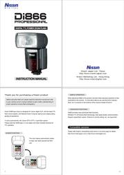 Nissin Di866 User Manual