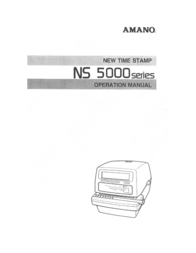 AMANO NS-5100 Electronic Time/Date & Numbering Stamp Operating Guide