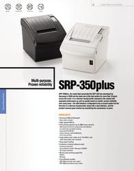 Bixolon SRP-350 PlusC SRP-350PLUSCOSG Leaflet