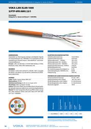 Voka Kabelwerk Orange 170203-50 Data Sheet