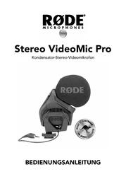 Rode Microphones RODE SVMP STEREO VIDEOMIC PRO MIKROFON 400.700.040 User Manual