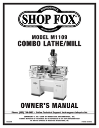 Woodstock M1109 User Manual
