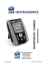 Ht Instruments COMBI G3VDE-tester 1009610 User Manual