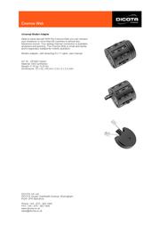 Dicota Cosmos Web Z9168Z Leaflet
