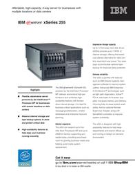 IBM xSeries 255 K511XEU Leaflet
