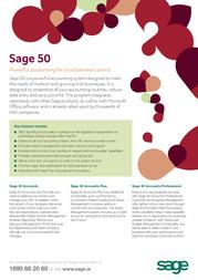 Sage Software Sage 50 Accounts Professional 2011, SC, 2u 0194PROSC21 Leaflet