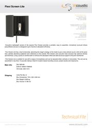 Vicoustic Flexi Screen Lite B00169 Leaflet