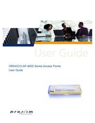 Proxim AP-4000 User Manual