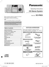 Panasonic SC-PM33 User Manual