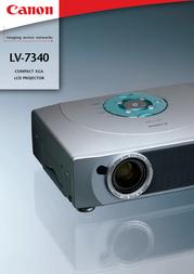 Canon LV-7340 PROJEKTOR 7404A001 User Manual