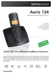 SwissVoice Aeris 134T Duo 20405628 Leaflet