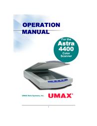 UMAX 4400 User Guide