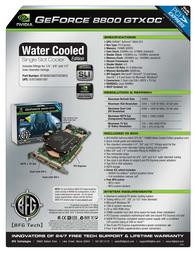 BFG Tech 8800 GTX OC 768MB 151423 Leaflet