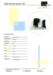 ConiuGo 305307214 Data Sheet