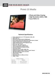 JOBO Piano 15 Media PIM015 Leaflet