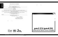 Carver pm420 User Manual