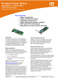 Madge Single RapidFire 3140V2 Low Profile PCI with 1 Wake -on-LAN connector 31-04 Product Datasheet