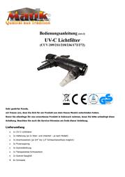 Mauk 713 UVC Purifier 11 W Black 713 User Manual