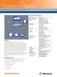PowerDsine PD-3512G/AC Leaflet