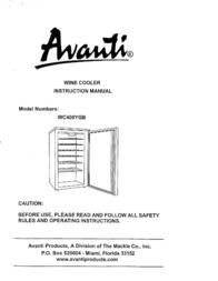Avanti WC400YGB Manual De Usuario