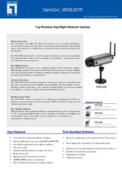 CP Technologies 11g Wireless Day/Night Network Camera WCS-2070 Leaflet