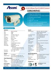 Asoni CAM624M-POE Leaflet