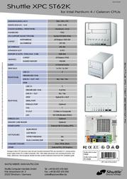 Shuttle XPC Zen (ST62K) ST62K Leaflet