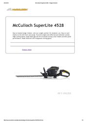 McCulloch SuperLite 4528 SUPERLITE 4528 User Manual