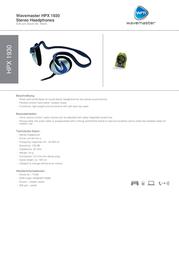 Wavemaster HPX 1930 71006 Leaflet