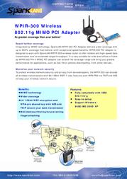 SparkLAN WPIR-300 Leaflet