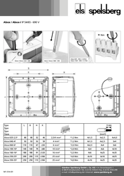Spelsberg Wet-room junction boxes Abox junction boxes Grey IP65 80290701 Data Sheet