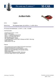 M-Cab PCI Express Karte 7100074 Leaflet