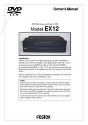 Fostex EX12 User Manual