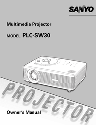 Sanyo PLC-SW30 User Manual