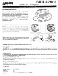 WAGAN SKU 47801 Leaflet