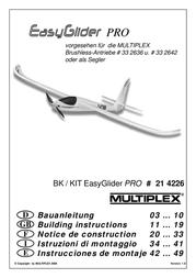 MULTIPLEX Kit EasyGlider PRO 214226 Data Sheet