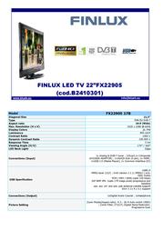 Finlux FX22905 Leaflet