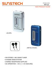 Sunstech RP-C3 RP-C3S Leaflet