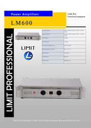 Limit LM-600 amplifier LM600 Leaflet