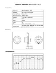 Kepo KP2852SP1F-5837 miniature speaker 8 Ω, 530 Hz ± 20 % KP2852SP1F-5837 Data Sheet