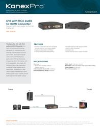KanexPro DVI - HDMI DVIRLHD Leaflet